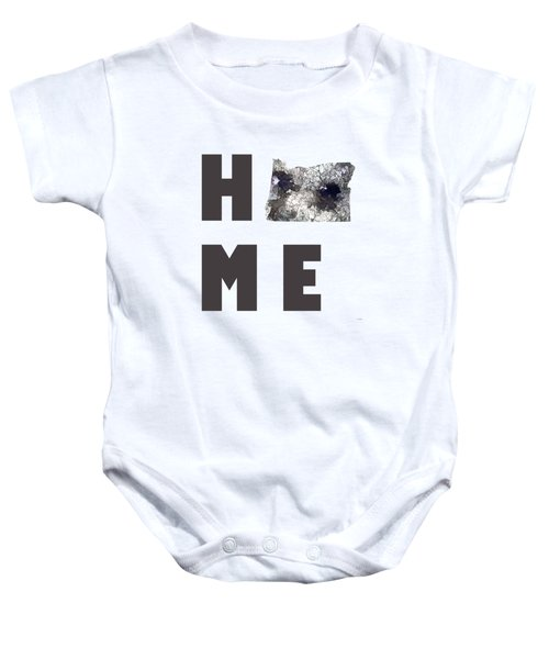 Oregon State Map Baby Onesie by Marlene Watson