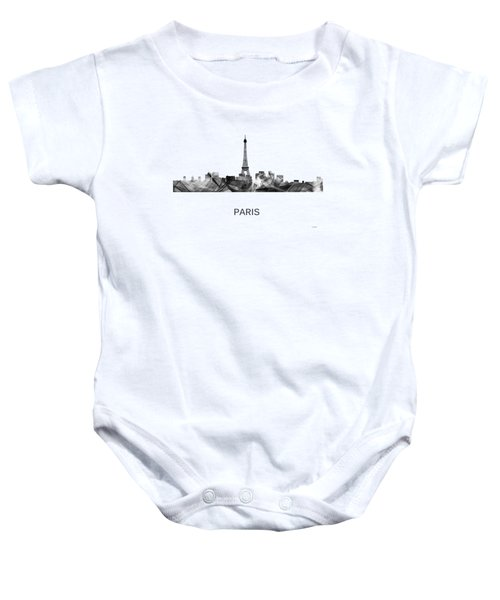Paris France Skyline Baby Onesie by Marlene Watson