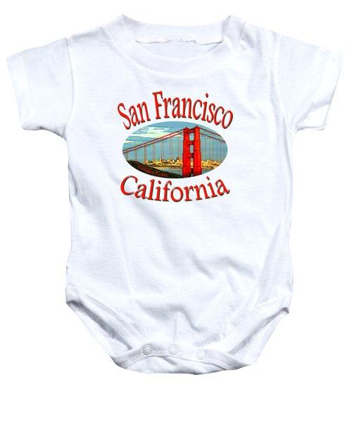 San Francisco California - Tshirt Design Baby Onesie by Art America Online Gallery