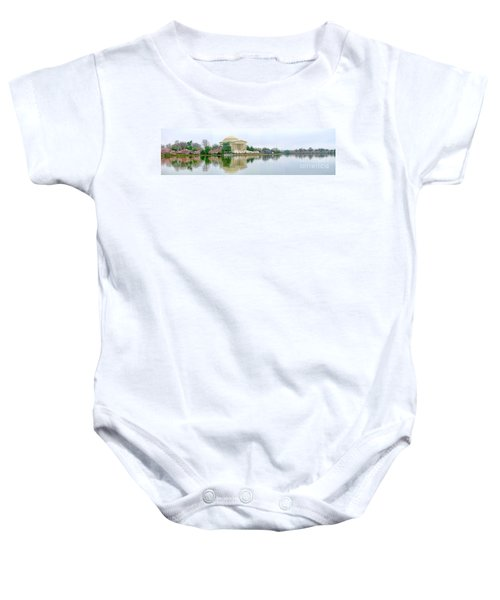 Tidal Basin With Cherry Blossoms Baby Onesie by Jack Schultz