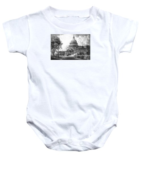 United States Capitol Building Baby Onesie by War Is Hell Store