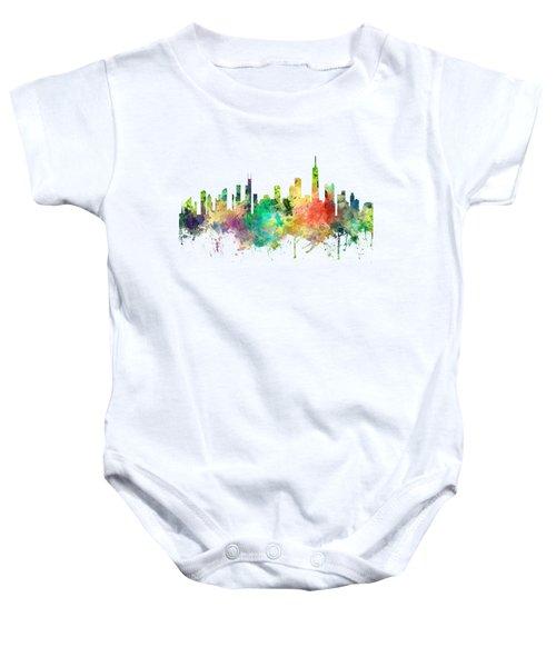 Chicago Illinois Skyline Baby Onesie by Marlene Watson