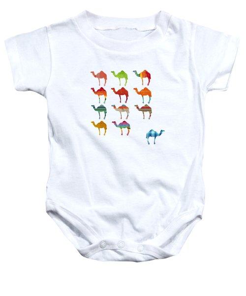 Camels Baby Onesie by Art Spectrum
