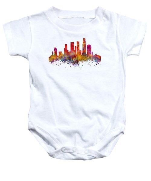 Los Angeles  Baby Onesie by JW Digital Art