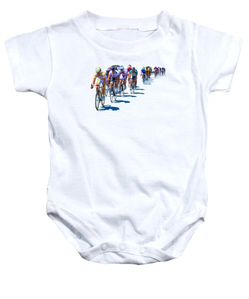 Philadelphia Bike Race Baby Onesie by Bill Cannon