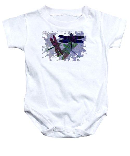 3 Dragonfly Baby Onesie by Jack Zulli