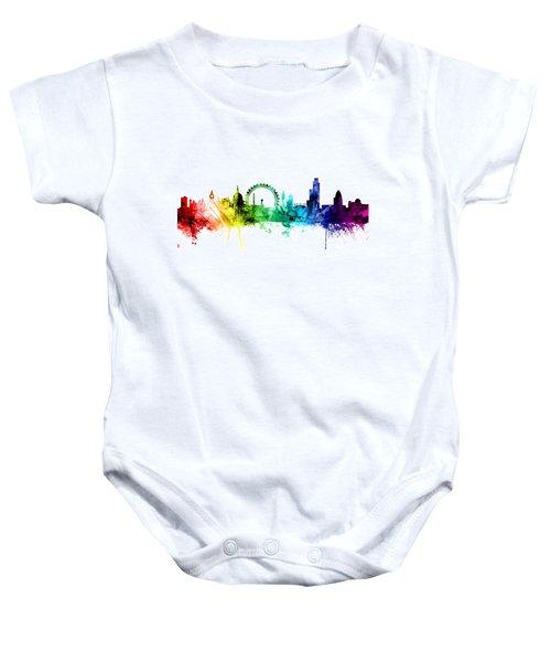London England Skyline Baby Onesie by Michael Tompsett