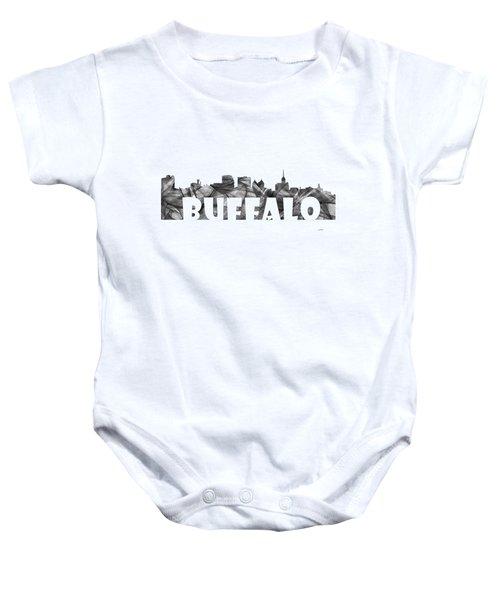 Buffalo New York Skyline Baby Onesie by Marlene Watson