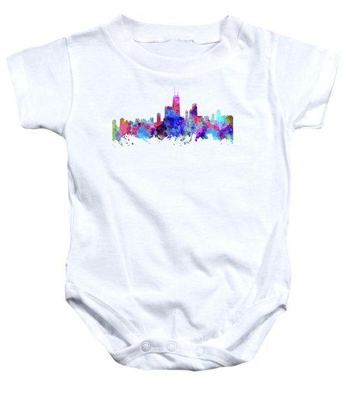 Chicago  Baby Onesie by JW Digital Art