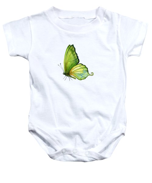 5 Sap Green Butterfly Baby Onesie by Amy Kirkpatrick