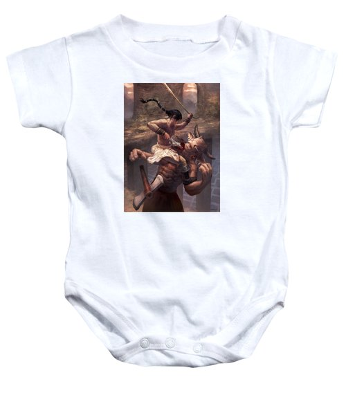 Above The Labyrinth  Baby Onesie by Ethan Harris