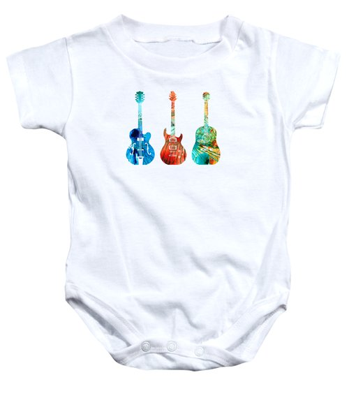 Abstract Guitars By Sharon Cummings Baby Onesie by Sharon Cummings