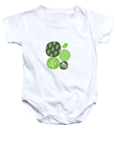 Abstract Nature Green Baby Onesie by Bekare Creative