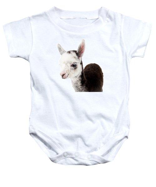 Adorable Baby Alpaca Cuteness Baby Onesie by TC Morgan