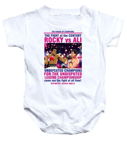 Ali Vs Rocky Baby Onesie by Akyanyme