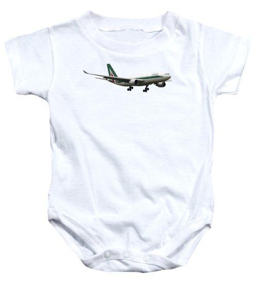 Alitalia, Airbus A330-202. Baby Onesie by Amos Dor