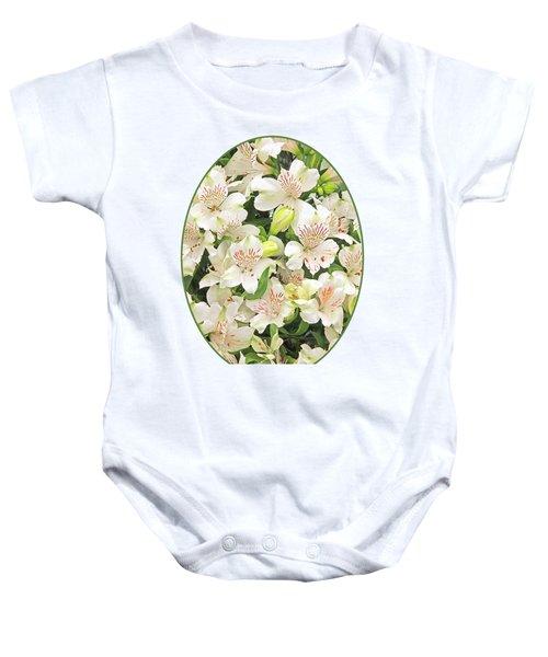 Alluring Alstroemeria - Peruvian Lilies Baby Onesie by Gill Billington