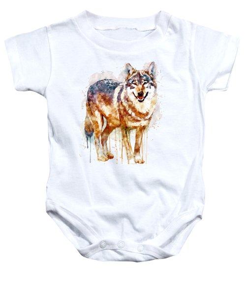 Alpha Wolf Baby Onesie by Marian Voicu
