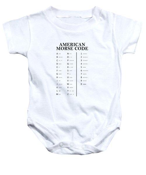 American Morse Code Baby Onesie by Mark Rogan