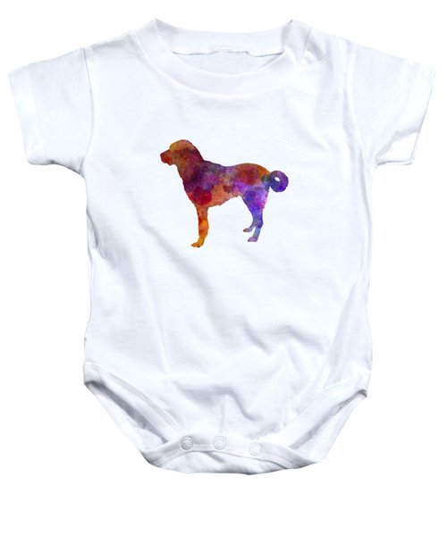 Anatolian Shepherd Dog In Watercolor Baby Onesie by Pablo Romero
