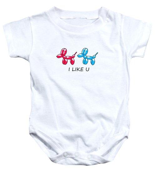 I Like You 2 Baby Onesie by Mark Ashkenazi
