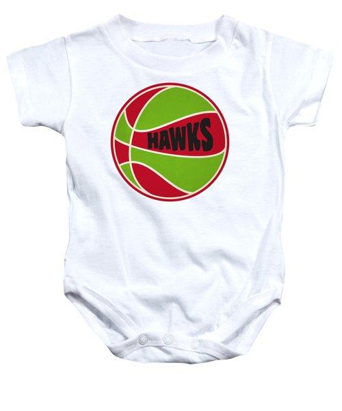 Atlanta Hawks Retro Shirt Baby Onesie by Joe Hamilton