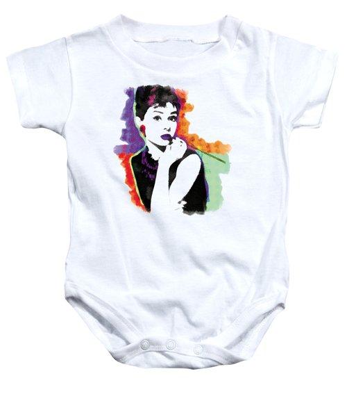 Audrey Hepburn Pop-art Baby Onesie by Magdalena Raszewska
