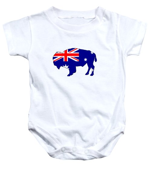 Australian Flag - Bison Baby Onesie by Mordax Furittus