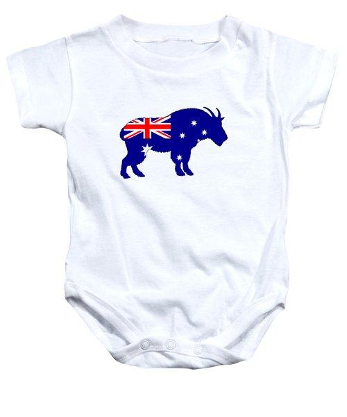 Australian Flag - Mountain Goat Baby Onesie by Mordax Furittus