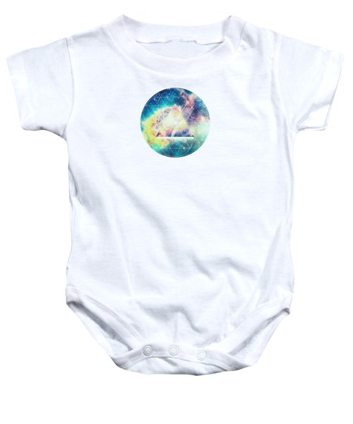 Awsome Collosal Deep Space Triangle Art Sign Baby Onesie by Philipp Rietz