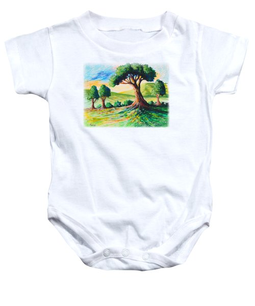 Basking In The Sun Baby Onesie by Anthony Mwangi