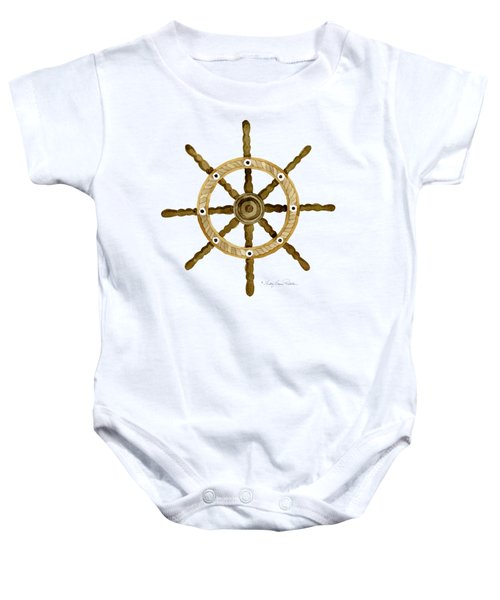 Beach House Nautical Boat Ship Anchor Vintage Baby Onesie by Audrey Jeanne Roberts