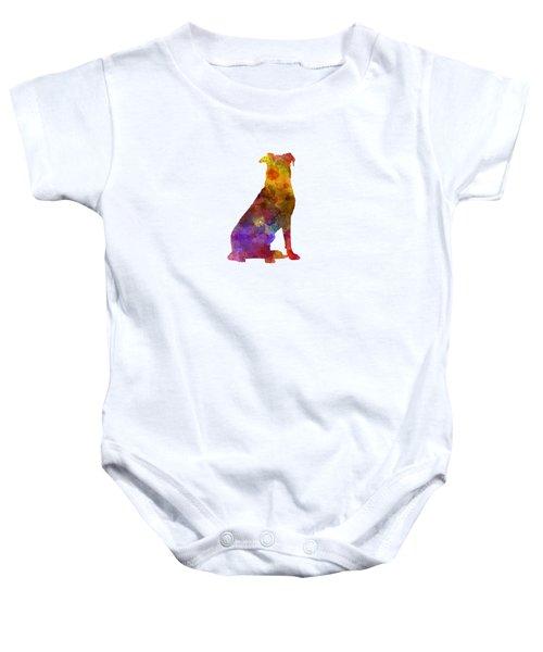Beauceron In Watercolor Baby Onesie by Pablo Romero