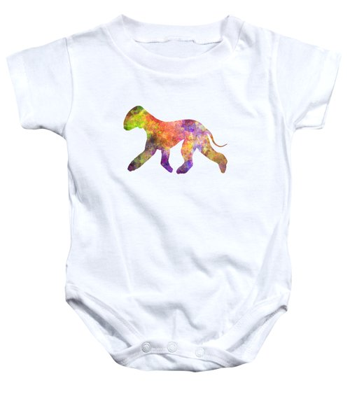 Bedlington Terrier 01 In Watercolor Baby Onesie by Pablo Romero