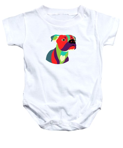 Bennie The Boxer Dog - Wpap Baby Onesie by Shara Lee