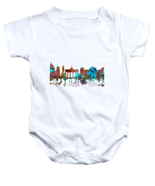 Berlin Germany Skyline  Baby Onesie by Marlene Watson