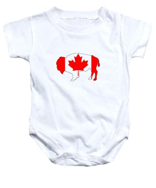 Bison Canada Baby Onesie by Mordax Furittus