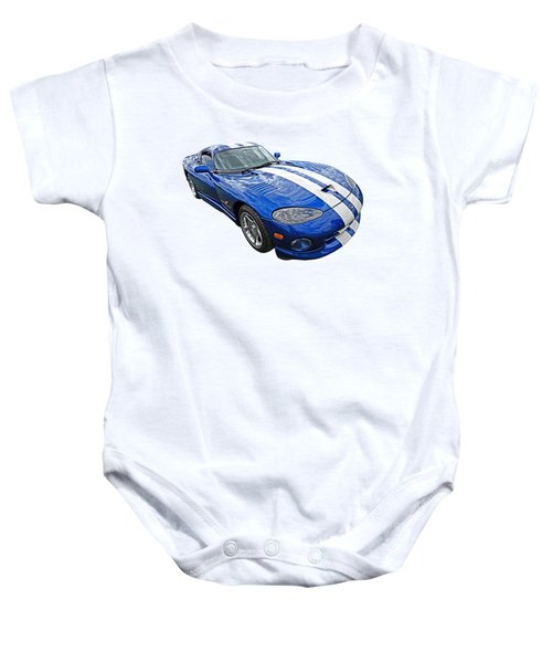 Blue Viper Baby Onesie by Gill Billington