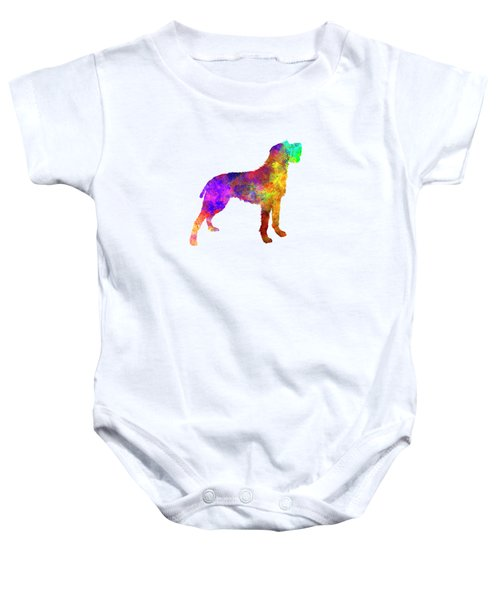 Bohemian Wirehaired Pointing Griffon In Watercolor Baby Onesie by Pablo Romero