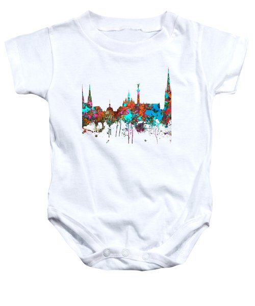 Bordeaux France  Skyline  Baby Onesie by Marlene Watson