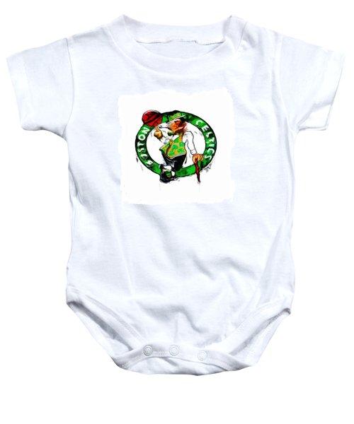 Boston Celtics 2b Baby Onesie by Brian Reaves
