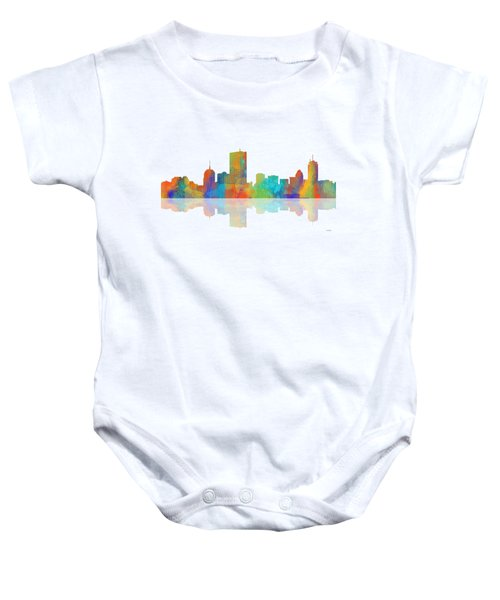 Boston Ma. Skyline Baby Onesie by Marlene Watson