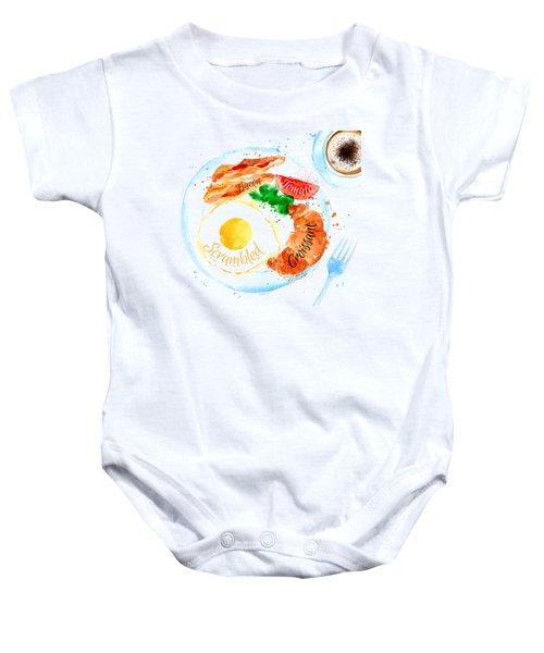 Breakfast 01 Baby Onesie by Aloke Design