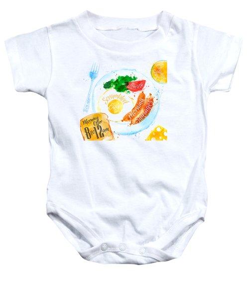 Breakfast 04 Baby Onesie by Aloke Design