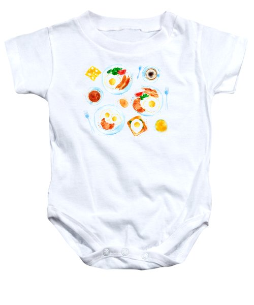 Breakfast 05 Baby Onesie by Aloke Design