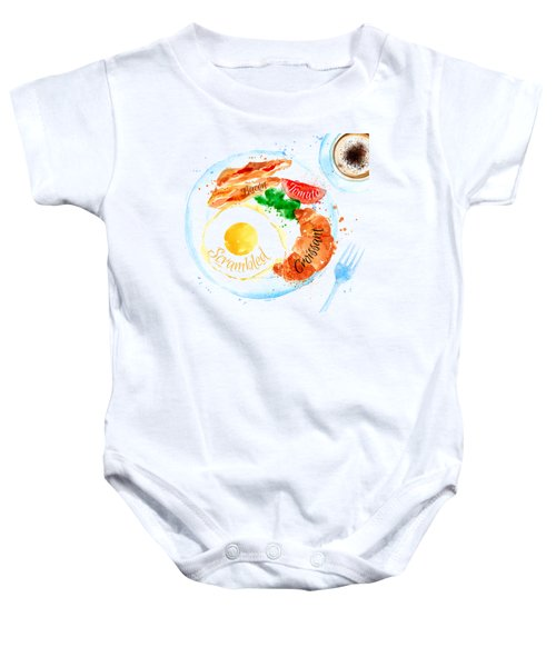 Breakfast 03 Baby Onesie by Aloke Design
