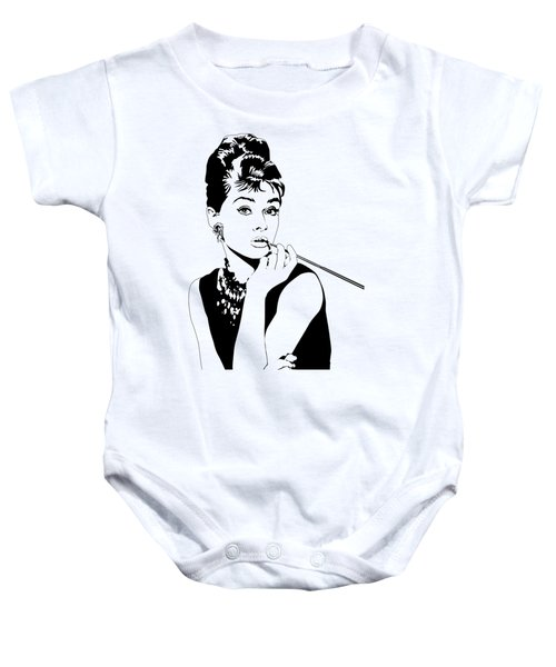 Breakfast At Tiffany's Baby Onesie by Amy Wilkinson