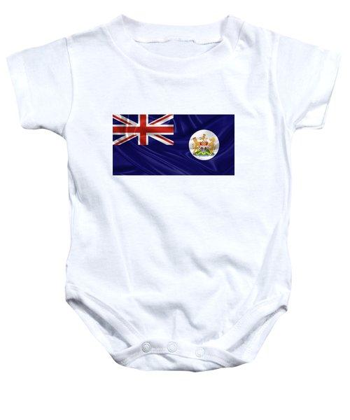 British Hong Kong Flag Baby Onesie by Serge Averbukh