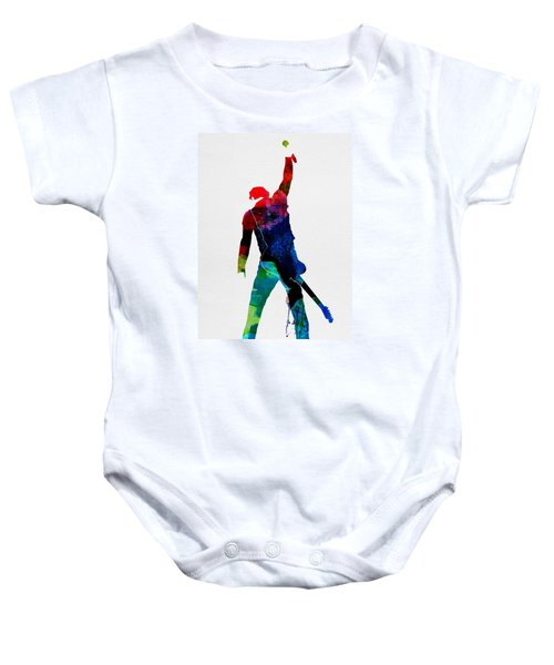 Bruce Watercolor Baby Onesie by Naxart Studio