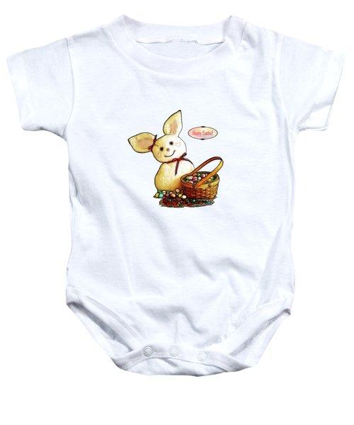 Bunny N Eggs Card Baby Onesie by Methune Hively